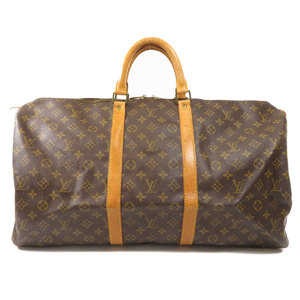 Louis Vuitton M41424 Keepall 55 Monogram Boston Bag Canvas Unisex LOUIS VUITTON