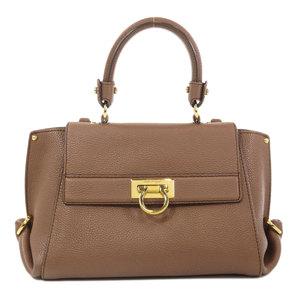 Salvatore Ferragamo Gantini 2way Handbag Leather Ladies