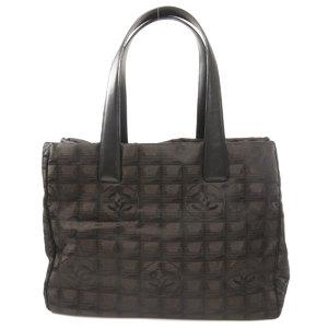 Chanel New Travel Line MM Tote Bag Nylon Jacquard Ladies CHANEL