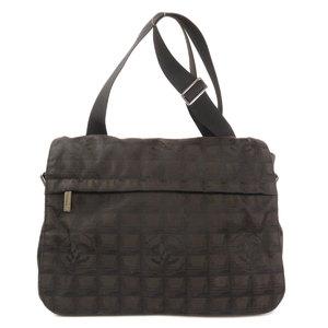 Chanel New Travel Line Shoulder Bag Nylon Jacquard Ladies CHANEL