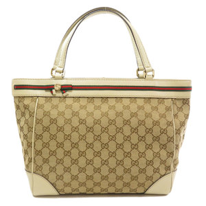 Gucci 257061 GG Webbing Ribbon Tote Bag Canvas Ladies GUCCI