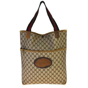 Gucci GG Canvas Sherry PVC Tote Bag Brown