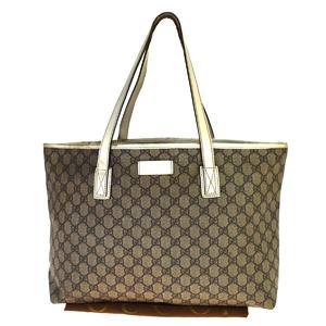 Gucci GG Canvas 211137.001364 PVC Tote Bag Brown