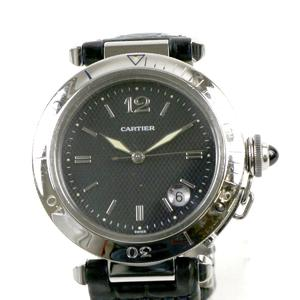 CARTIER Pacha Mens Watch automatic leather W31017H3