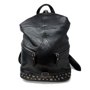 JIMMY CHOO Jimmy Choo Fitz Roy Backpack Rucksack Sheep Leather Lamb FITZROYSBLS