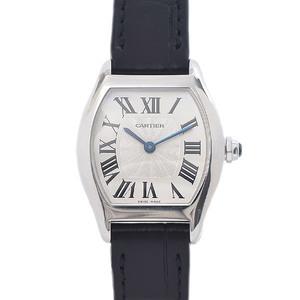 CARTIER Tortue SM Ladies Silver Dial K18WG Manual winding W1556361 Watch