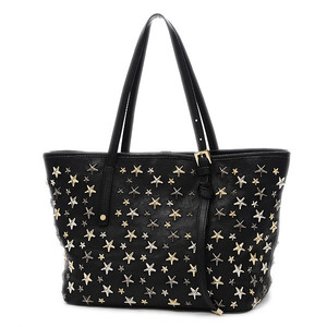 Jimmy Choo Sasha Small Tote Bag Starstuds Leather Black SASHA S LTR 151