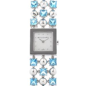 Bvlgari Lucia Ladies Watch Shell Dial K18WG Blue Topaz LUW16G Watch