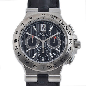 Bvlgari Diagono Professional Chronograph Steel Leather Automatica DP42BSLDCH Mens Watch