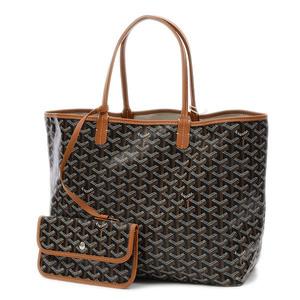 Goyard Saint Louis PM Tote Bag PVC Black Brown