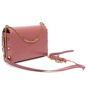 Jimmy Choo Rocket Chain Shoulder Bag Leather Pink