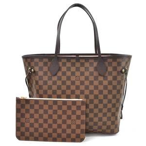 Louis Vuitton Shoulder Bag Tote Damier Ebene Neverfull PM Rose Ballerine Canvas Ladies N41603 98257d
