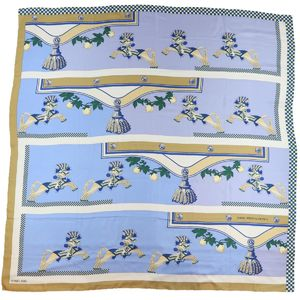 Hermes HERMES Carre 140 Harnais Francais En Sequences French harness sequence Silk scarf Large format stall Z1-6070