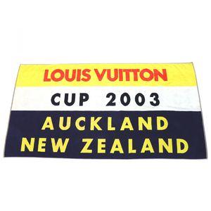 Louis Vuitton LOUIS VUITTON LV cup CUP 2003 beach towel large format multi yellow orange navy E1-7479