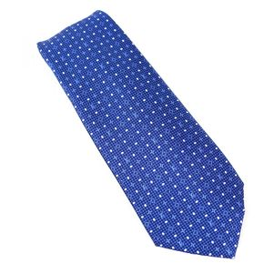 Louis Vuitton LOUIS VUITTON Clavat monogram grid 8CM silk tie dot mens M73544 Z4-8815