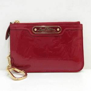 Louis Vuitton Pochette Cle NM Pom Damour Red Coin Case Mini Wallet Key Ladies Monogram Verni M93559 LOUISVUITTON