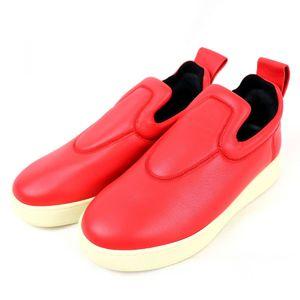 Celine CELINE pull-on slip-on leather sneakers platform 36 red P3-6057