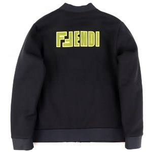Fendi 2019-20AW back logo bomber jacket blouson bonding mens 48 black H4-5044