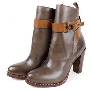 Sartre SARTORE heel strap leather short boots bicolor 35 brown P2-5455