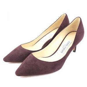 Jimmy Choo JIMMY CHOO pointed toe suede heel pumps ladies 35.5 red brown Q2-5131