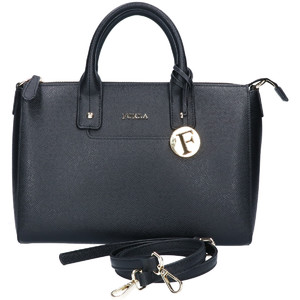 FURLA Furla LINDA Linda Satchel Bag 2WAY Shoulder Handbag M Black Women