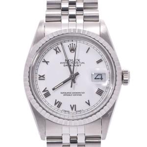 ROLEX ロレックス デイトジャスト 16030 メンズ SS 腕時計 自動巻き ホワイトローマン文字盤