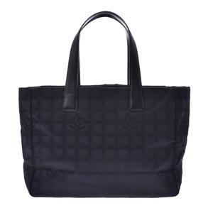 シャネル(Chanel) CHANEL シャネル ニュートラベルライン トートMM 黒 ユニセックス ナイロン レザー トートバッグ
