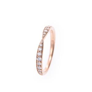 ティファニー(Tiffany) TIFFANY&Co. ティファニー ハーモニーリング #7.5 ハーフエタニティ 7.5号 レディース K18YG リング・指輪