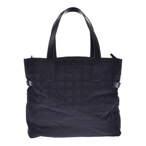 シャネル(Chanel) CHANEL シャネル ニュートラベルライン トートGM 黒 レディース ナイロン レザー トートバッグ