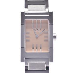 HERMES エルメス タンデム TA1.210 レディース SS 腕時計 クオーツ ベージュ文字盤