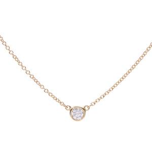 ティファニー(Tiffany) TIFFANY&Co. ティファニー バイザヤード ネックレス レディース K18YG ダイヤ ネックレス