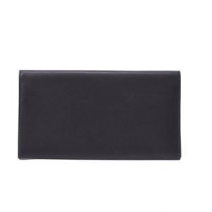 エルメス(Hermes) HERMES エルメス シチズンツイル ロング 黒 シルバー金具 X刻印 ユニセックス エヴァーグレイン 長財布
