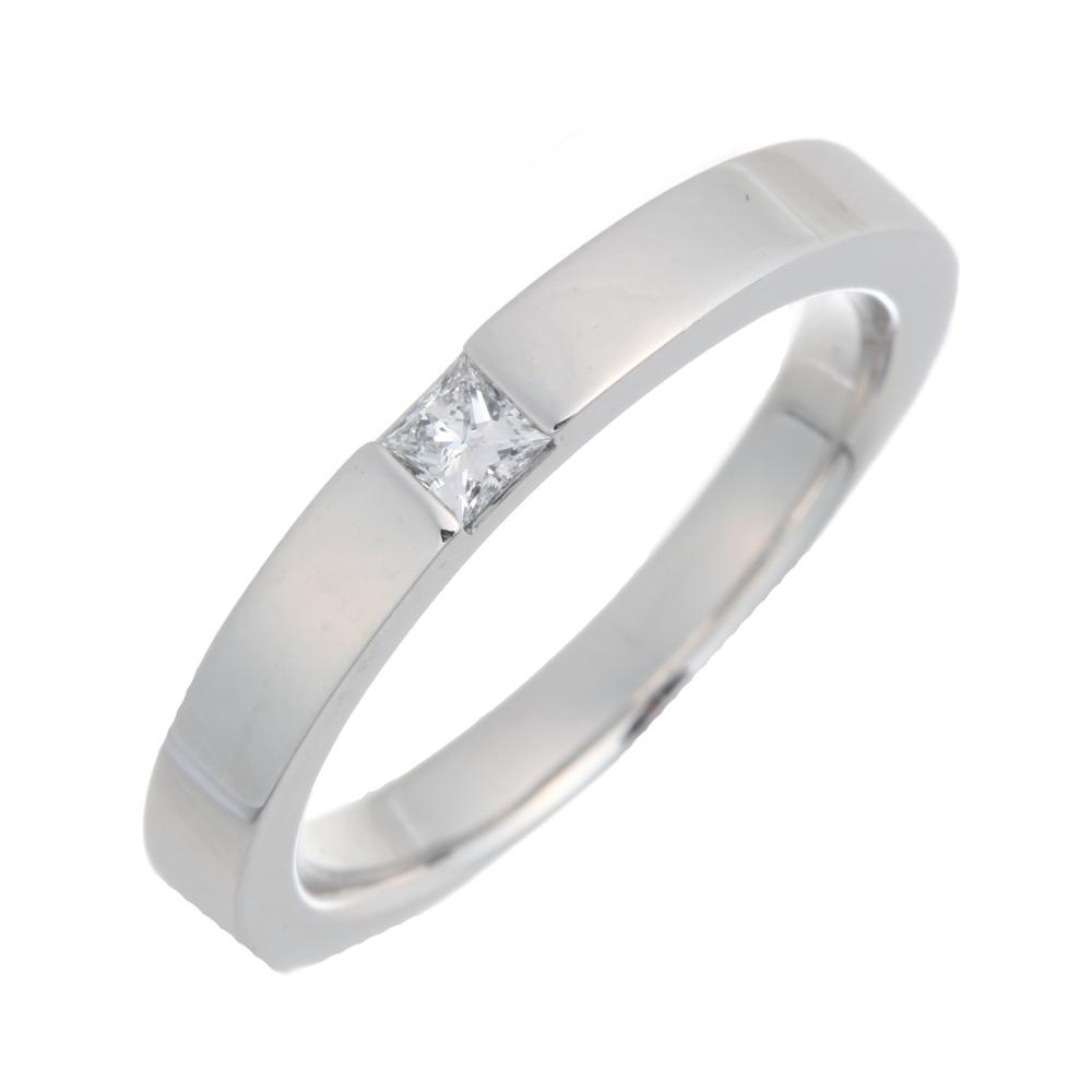 Harry Winston Princess Cut Diamond Marriage Ladies Ring Ring Wbdppcbzs10 062 Pt950 Platinum 11 Silver Dh56589 Elady Com