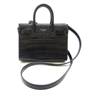 Saint Laurent Paris Sucked Jules Nano Women's Handbag 340778 Leather Black