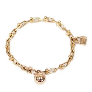 TIFFANY&Co. Tiffany K18PG Bracelet Key Hardware Charm K18 Pink Gold Ladies Men