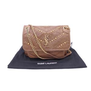 Saint Laurent Shoulder bag brown leather gold hardware