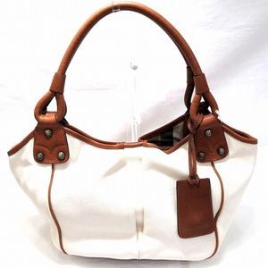 Burberry Canvas Leather Handbag Bag Ladies