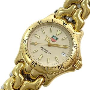 TAG HEUER Watch S94.013-1 Professional Quartz Mens Gold Steel