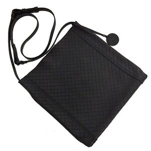Bottega Veneta Shoulder Bag Intretcio Black Leather BOTTEGA VENETA Men's Ladies Crossbody Charm