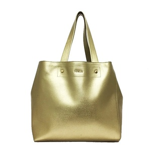 Full la tote bag gold hardware leather FURLA ladies with pocket handbag color