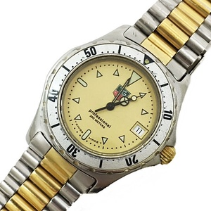 TAG HEUER Professional 974.013 Gold Silver Combi Stainless Mens Watch