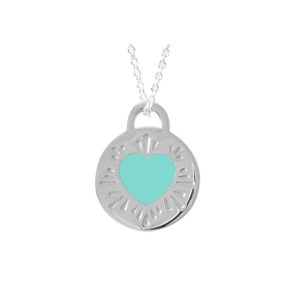 Tiffany Necklace 60563136 Return To Silver 925 Tiffany Co Ladies Jewelry Heart Sally Pendant Plate Blue Elady Com