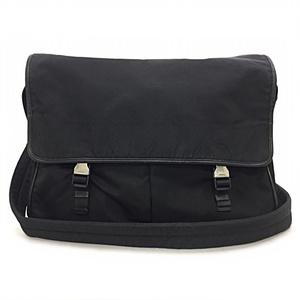 Prada Shoulder Bag Black Silver Hardware Nylon PRADA Unisex Men Women