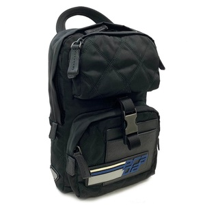 Prada Mini Shoulder Bag 2VZ013 Black Blue Gray White Nylon PRADA Men's Body Backpack Minimum Child A5