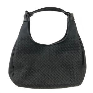 Bottega Veneta One Shoulder Bag Intrecciato Tote Black PVC BOTTEGA VENETA Ladies Intore Zipper