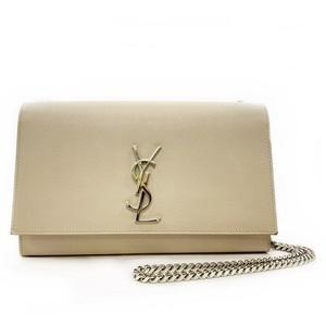 Saint Laurent Chain Shoulder Bag Classic Monogram 364021 BOW0N 9906 Satchel Beige Leather YSL SAINT LAURENT PARIS Chainy Ladies Pochette