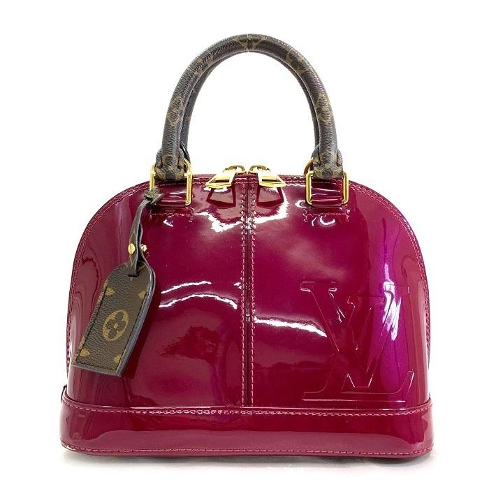 Louis Vuitton Vernis Alma Bb Bolsa Pochette Magenta Monograma Rosa Ebay