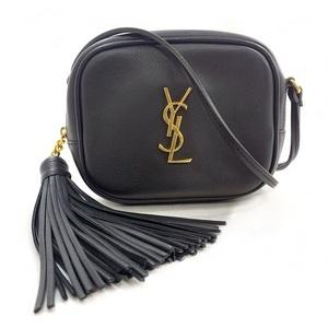 Saint Laurent Shoulder Bag Cassandra Pochette YSL Lambskin Leather SAINT LAURENT PARIS Fringe Ladies Wallet