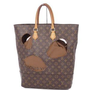 Louis Vuitton COMME des GARCONS Monogram With Homes Tote Bag Brown Comme Garcons