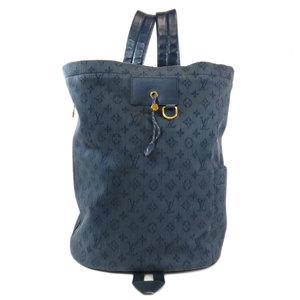 Louis Vuitton M44617 Chalk Backpack Monogram Daypack Denim Mens LOUIS VUITTON